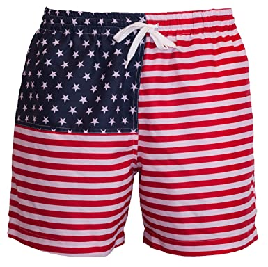 bdb0558715 Meripex Apparel Men's American Flag Swim Trunks: The Old Glory's (Cheaper  Than Chubbies)