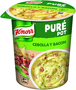 Knorr Pasta Pot Puré Patata Cebolla Bacon - 59 g: Amazon.es: Amazon Pantry