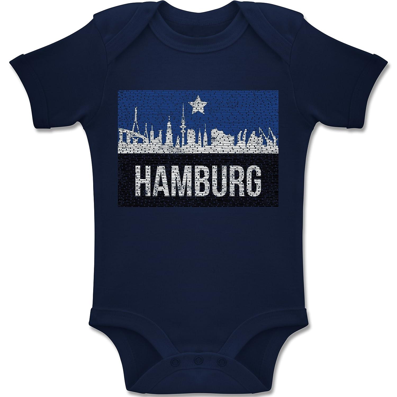 Sport Baby - Fußball Hamburg - Baby Body Kurzarm Jungen Mädchen Shirtracer BZ10