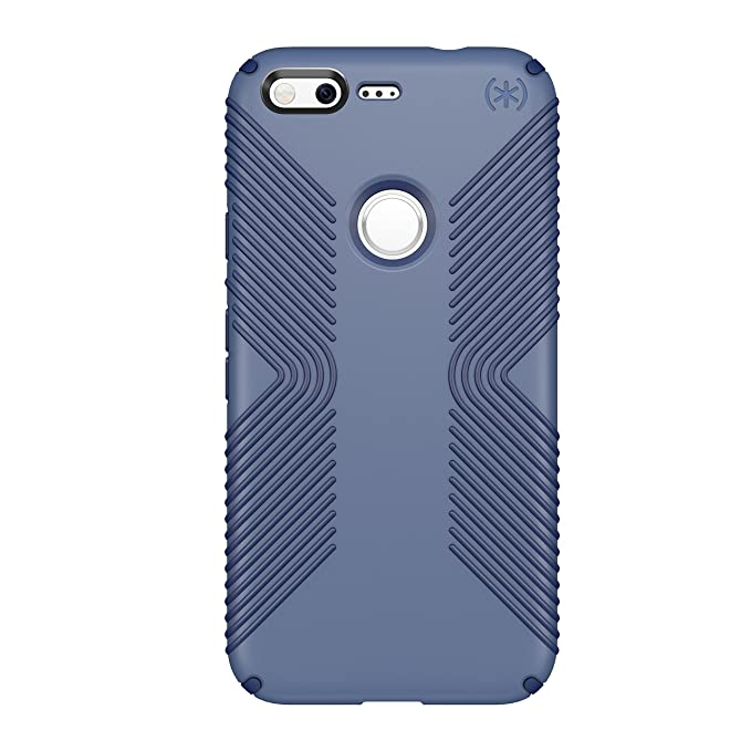 cheap for discount be834 dfa08 Speck Products Presidio Grip Cell Phone Case for Google Pixel - Twilight  Blue/Marine Blue (Fits Google Pixel Only, Not Pixel 2 Or XL)