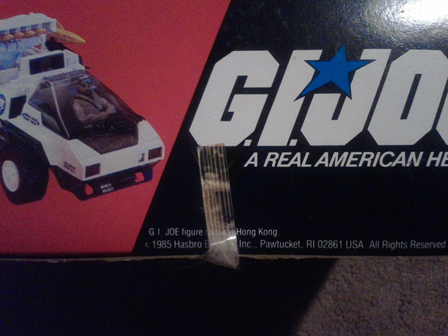 GI Joe Vehicle Snow Cat Engine Cover 1985 Original Part