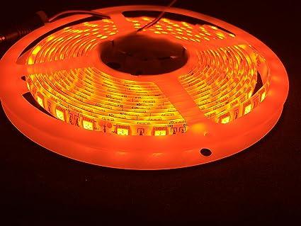 Amazon apatner 164ft smd5050 orange flexible led strip lights apatner 164ft smd5050 orange flexible led strip lights 5m 300 leds ribbon led light aloadofball Image collections