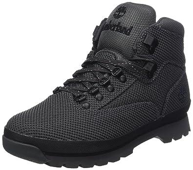 51d0b42df03 Timberland A1O33 Men's Euro Hiker Cordura Fabric Boots, Black - 11.5 ...
