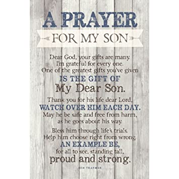 Amazoncom Son Prayer Wood Plaque With Inspiring Quotes 6x9