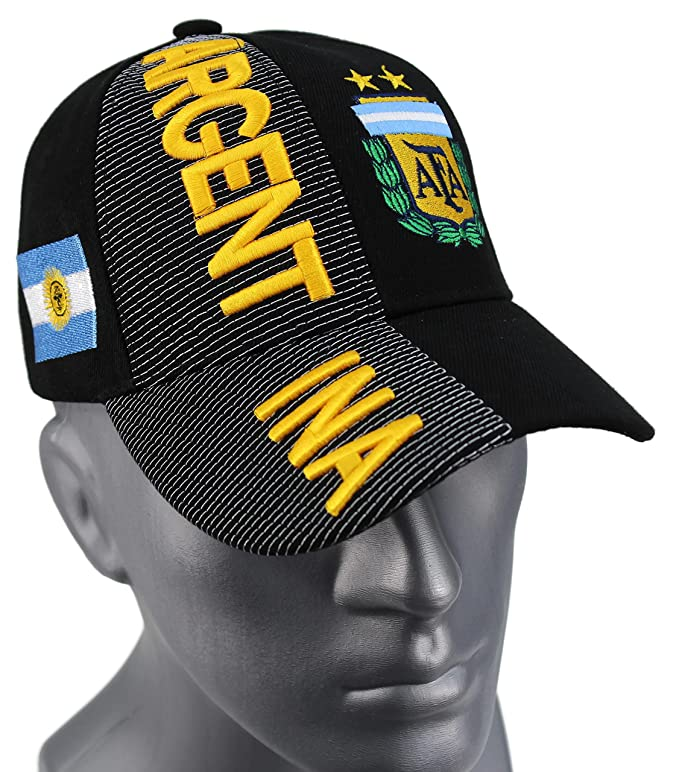 Amazon.com : High End Hats Nations of South America Hat Collection Embroidered Adjustable Baseball Cap, Argentina with AFA Logo, Black : Sports & Outdoors