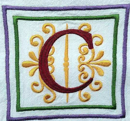 Monogrammed Dish Towel, Kitchen Towel, Tea Towel, Flour Sack Towels,  Embroidered Towels