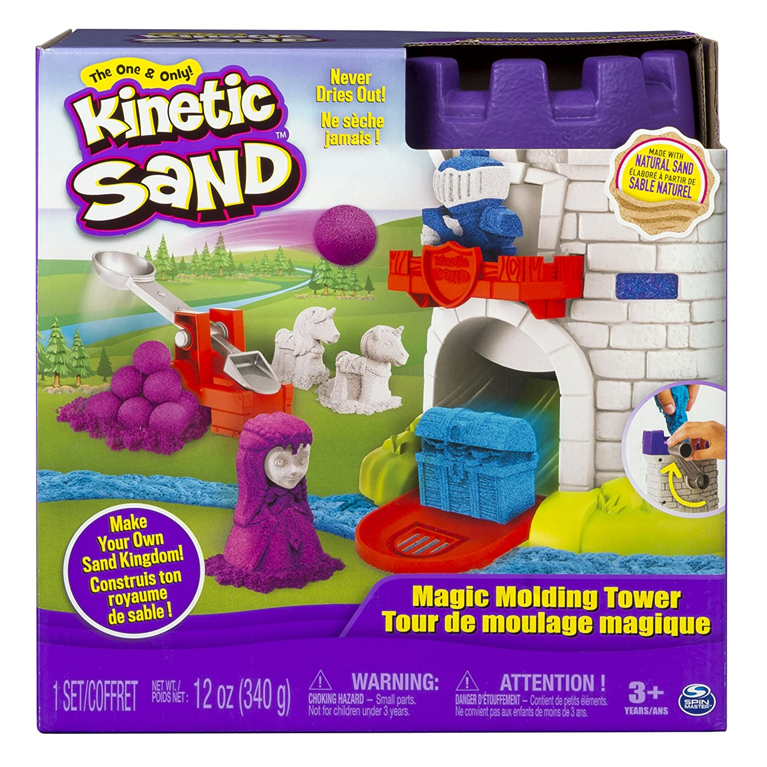 9ce0188b6a Amazon.com: The One and Only Kinetic Sand, Magic Molding Tower Playset with  12oz of Kinetic Sand, for Ages 3 and Up: Toys & Games