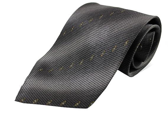 Rotfuchs Corbata 100% seda negro gris marron R-144: Amazon.es ...