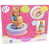 NENUCO - Famosa - 700.012.125 - Accessori da viaggio per bambola:  Vasca da bagno, borsa e culla 3 in 1