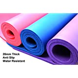 20mm Extra Thick Purple Exercise Gym Fitness Physio Pilates Workout Non Slip Yoga Mat