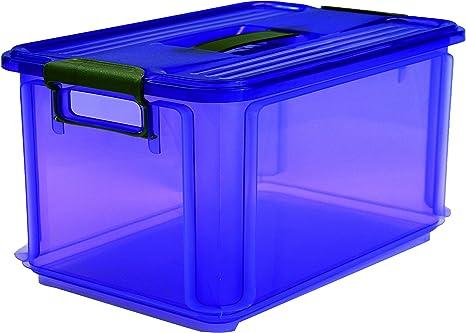 Denox Caja Ordenación, Violeta, 34.5x24x26 cm: Amazon.es: Hogar