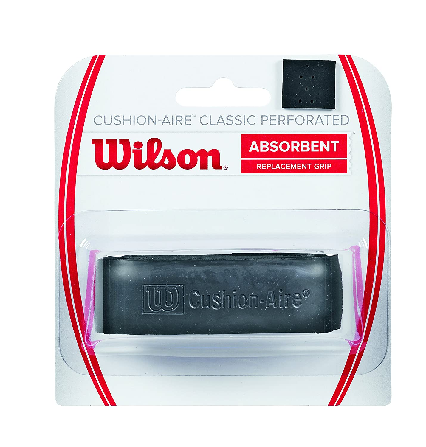Wilson Griffband Cushion Aire Classic Perforated Grip, Black, WRZ4210BK