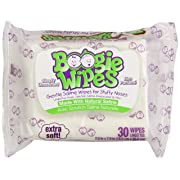 Boogie Wipes Soft Natural Saline Wet Tissues for Baby and Kids Sensitive Nose, Hand, and Face with Moisturizing Aloe, Chamomile, and Vitamin E, Unscented, 30 Count (Pack of 6)