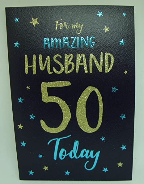 Husband 50th Birthday Card Amazoncouk Kitchen Home