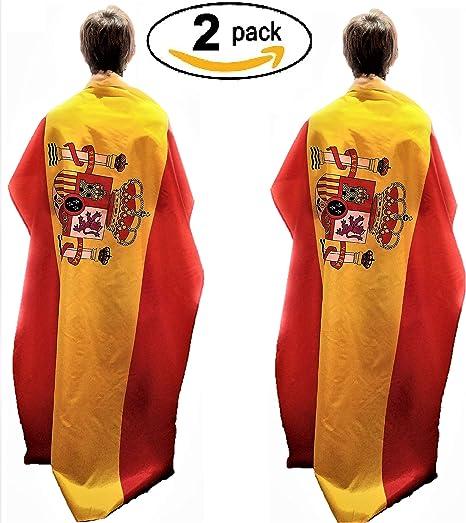 Housemarket Bandera España 150 * 90 cm. Que Viva ESPAÑA! (2 Unidades): Amazon.es: Jardín
