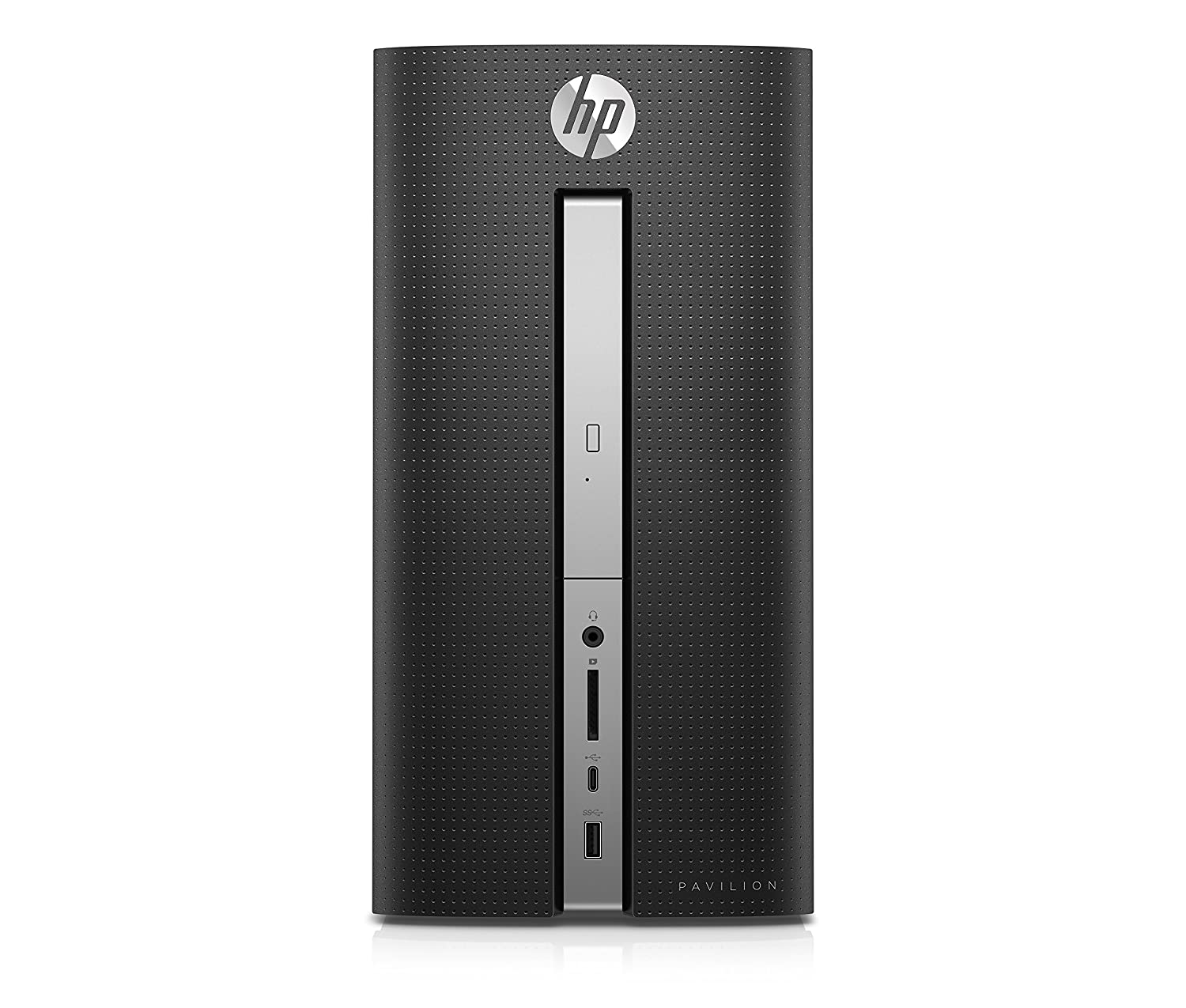 HP Pavilion 570-p039nl Desktop PC de 8 GB, i5 – 7400, HDD 1000 GB, AMD Radeon RX 460, Negro Brillante [Layout Italiano]
