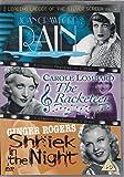 Rain (1932) / The Racketeer (1929) / A Shriek in the Night (1933)[DVD]