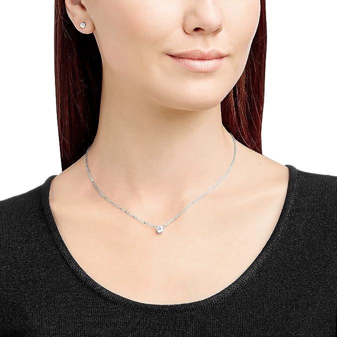 e60c3823f Swarovski Attract Round Set, White, Rhodium plating: Amazon.co.uk: Jewellery