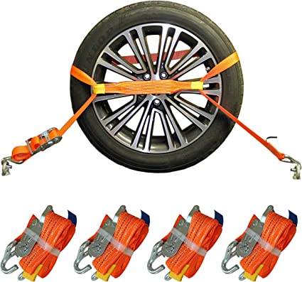 Shz 4x Spanngurt Auto Transport Zurrgurt Radsicherung Pkw Kfz Trailer Reifengurt 21 Auto