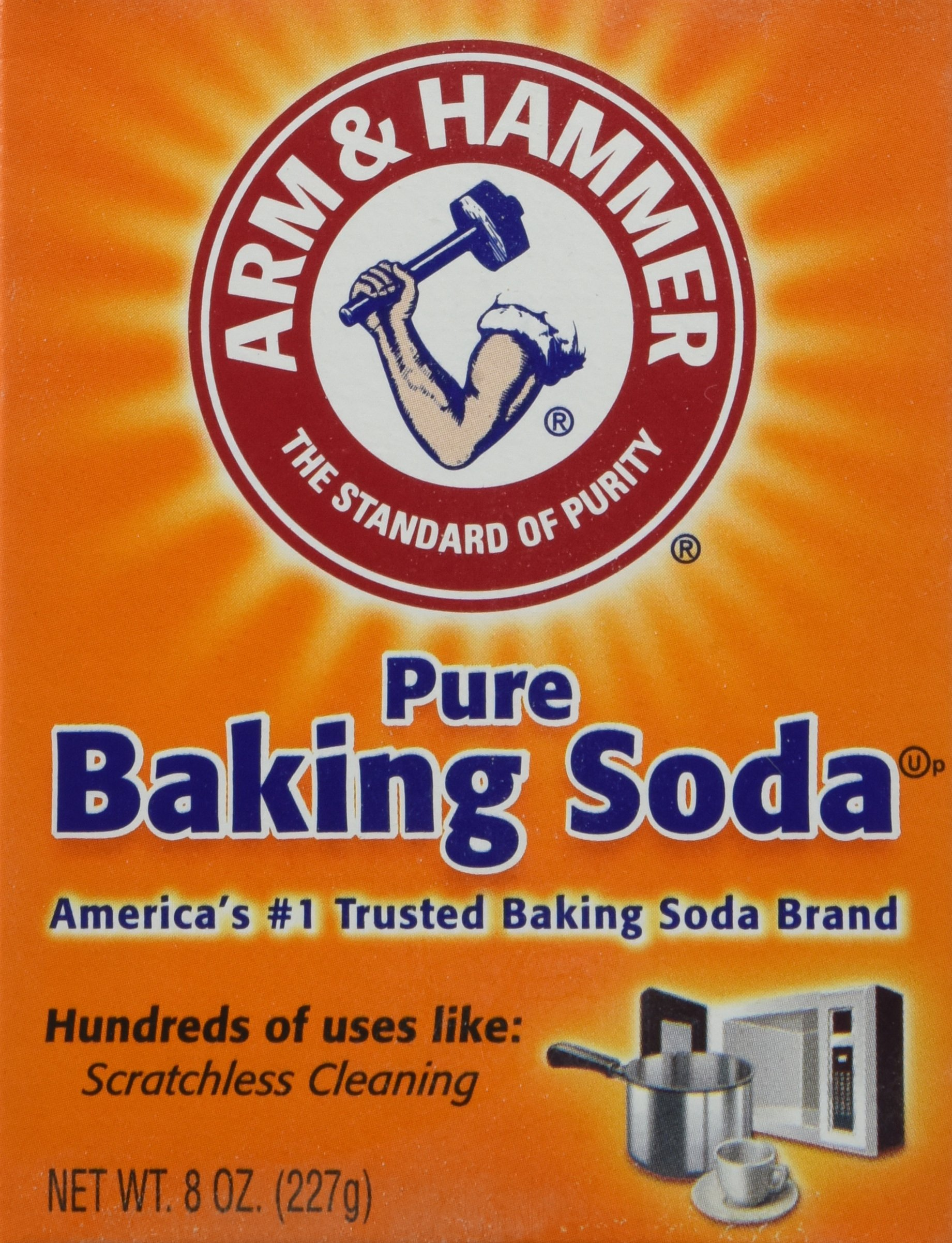 Arm & Hammer Pure Baking Soda, 8 Ounce (Pack of 3)