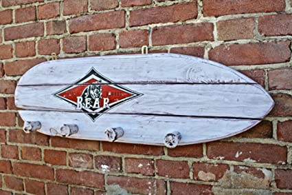 Perchero Vintage surf-board Bear de madera maciza: Amazon.es ...