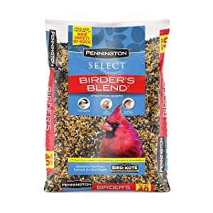 Pennington Pack of 2 Select Birder's Blend Wild Bird Feed and Seed, 40 lbs