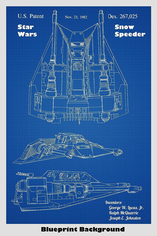 Amazon.com: Star Wars Snow Speeder Patent Print Art Poster: Choose ...