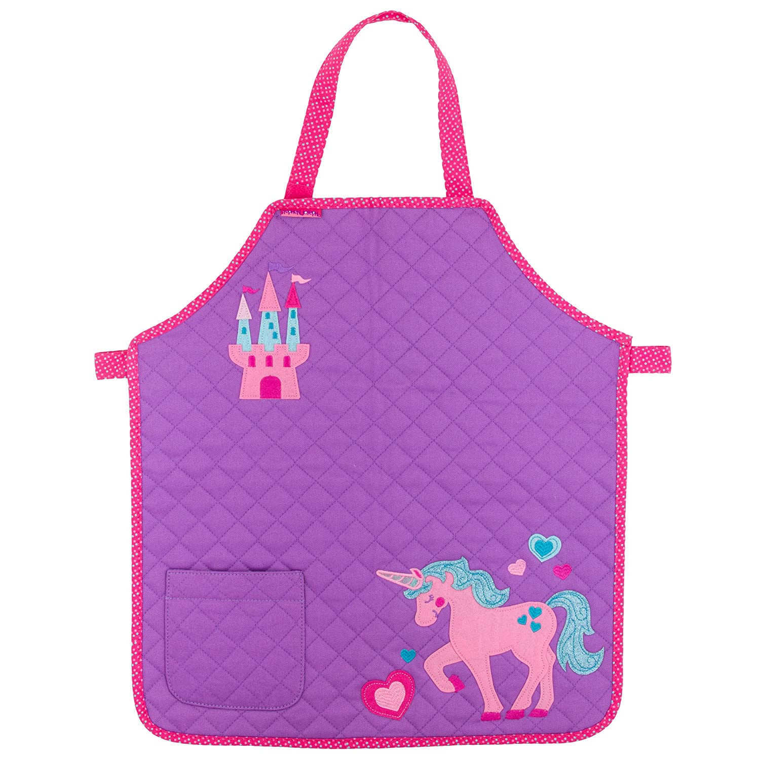 Stephen Joseph SJ990121 Quilted Apron, Unicorn Let' s Learn Italian!