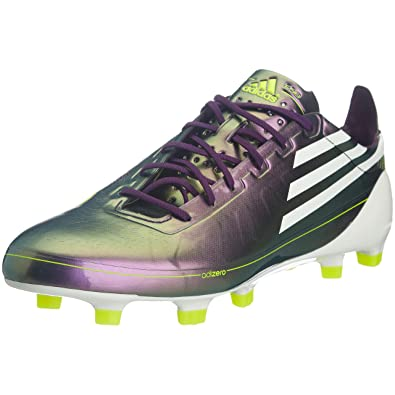 cheap for discount cfd8f e2b54 adidas F50 Adizero Trx Fg - Chaussures Football homme - Violet Blanc Jaune -