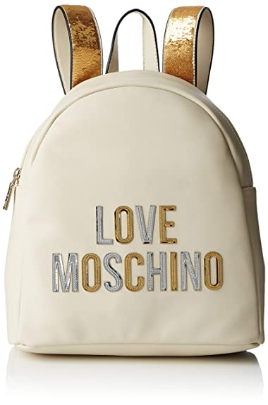 Borsa zainetto Love Moschino nero e avorio con cuore Colore