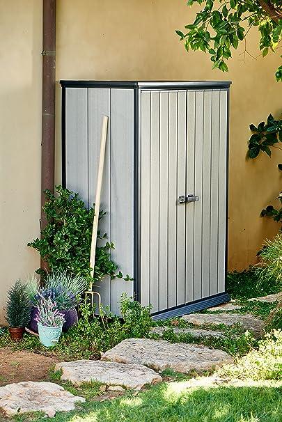 Keter - Cobertizo de jardín exterior Duotech Hight Store. Color gris: Amazon.es: Jardín