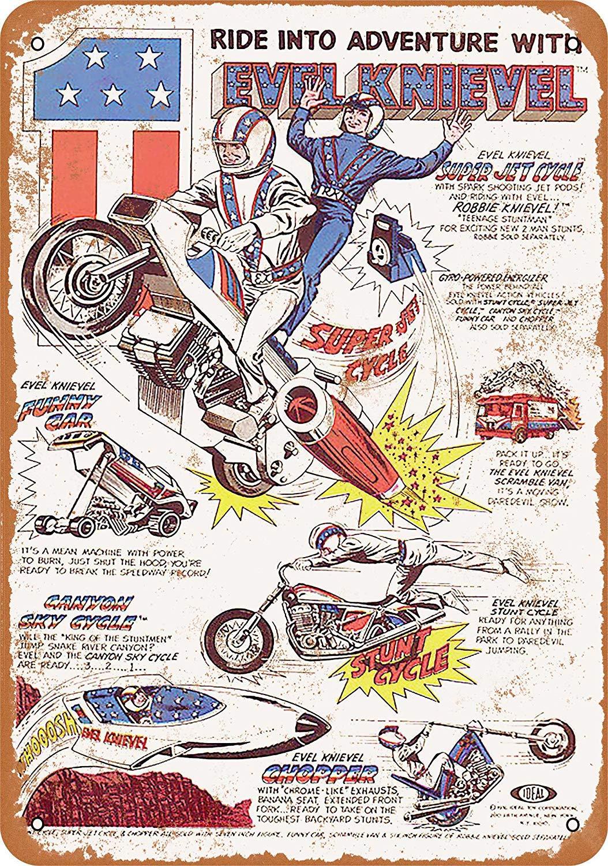 Kia Haop 1977 Evel Knievel Toys Metal Fender Cartel De Chapa ...