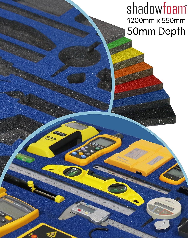 Funda de espuma de color azul, organizador de herramientas para carreras, para caja de herramientas, azul Shadow Foam