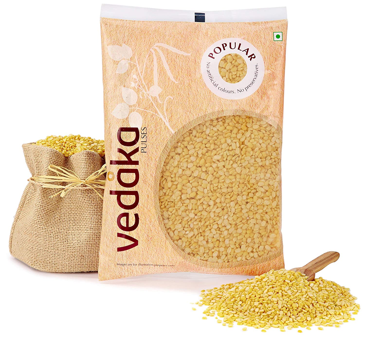 Vedaka Popular Moong Dal (Yellow), 1 kg