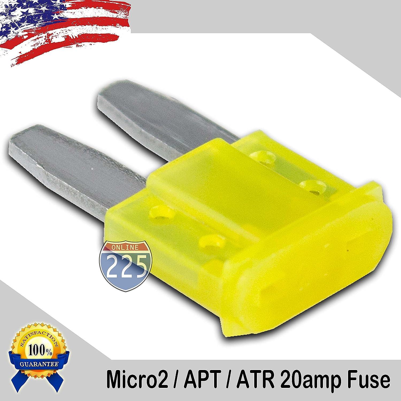 25 Pack 30 AMP APT ATR Micro2 Blade Fuse 30A Car Truck Boat Marine RV