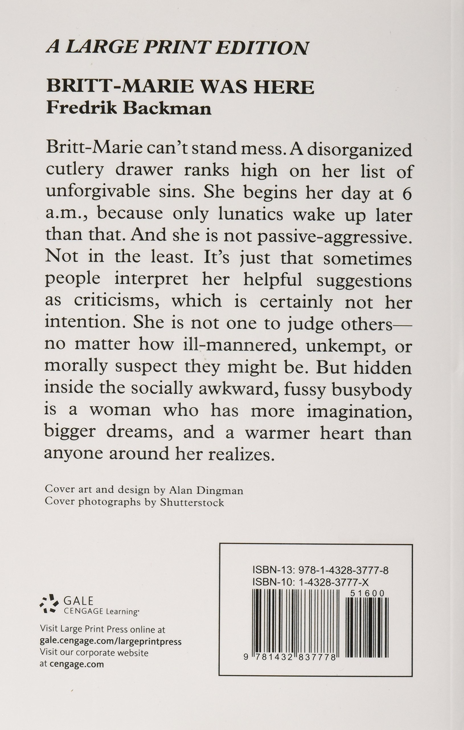 Britt-Marie Was Here: A Novel by Large Print Press