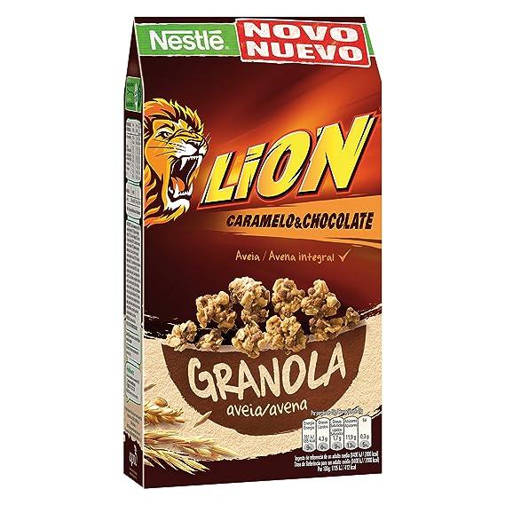 Lion Cereales Granola Copos de Avena Integral y Trigo, con Chocolate ...