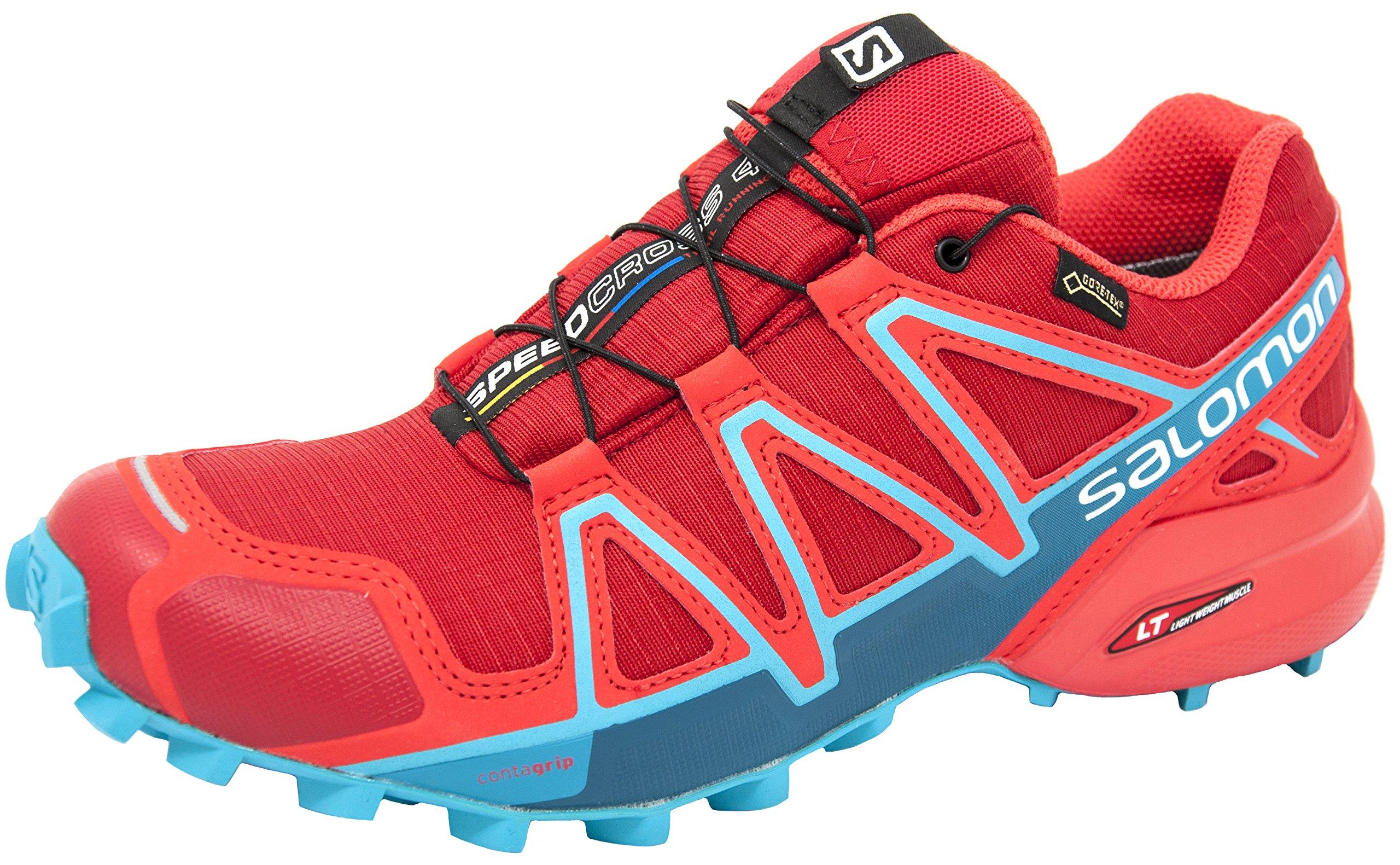 Salomon Women's Speedcross 4 GTX W Trail Running Shoe, Barbados Cherry, 8 M US
