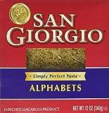 San Giorgio Alphabet Soup Pasta, Letter Pasta 12-Oz. Boxes [Pack of 2]