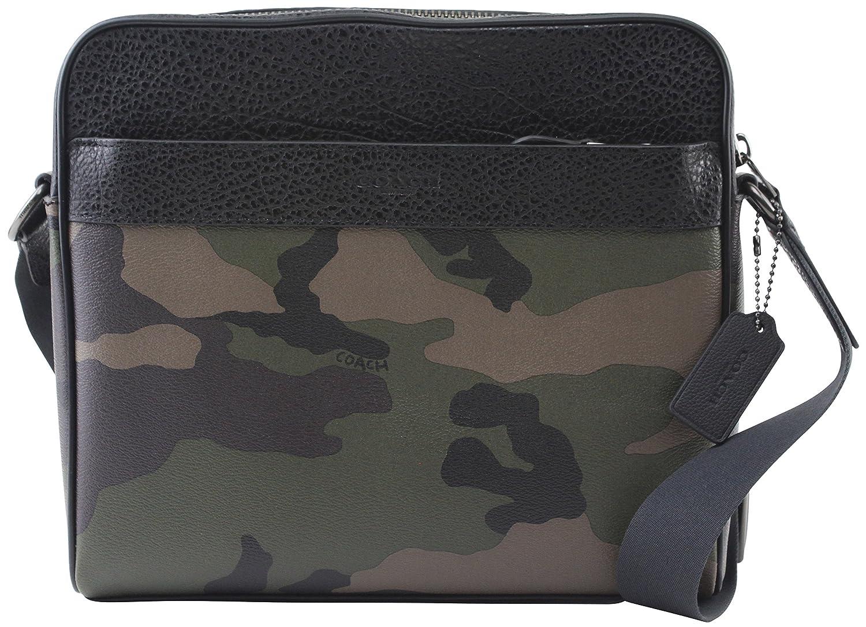 e650506d Coach Men's Charles Camo Dark Green Multi Camera Crossbody Bag, Style F29052