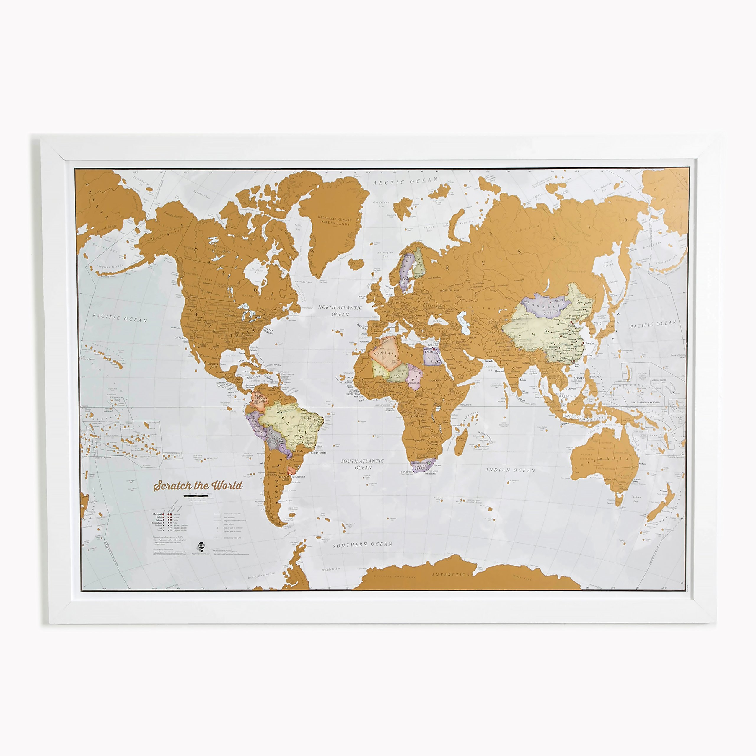 Scratch off your world map travel poster detailed cartography 33 x scratch off your world map travel poster detailed cartography 33 x 23 inches gumiabroncs Images