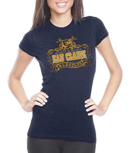f7c039ba Amazon.com : NCAA Wisconsin Eau Claire Blugolds Womens Prius2 Long Body  Classic T-Shirt : Sports Fan T Shirts : Clothing