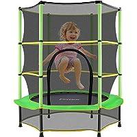 Femor outdoor trampoline kinderen met veiligheidsnet Ø 150 cm dubbele ritssluiting en beenafdekkingen, antislip, anti-uv…