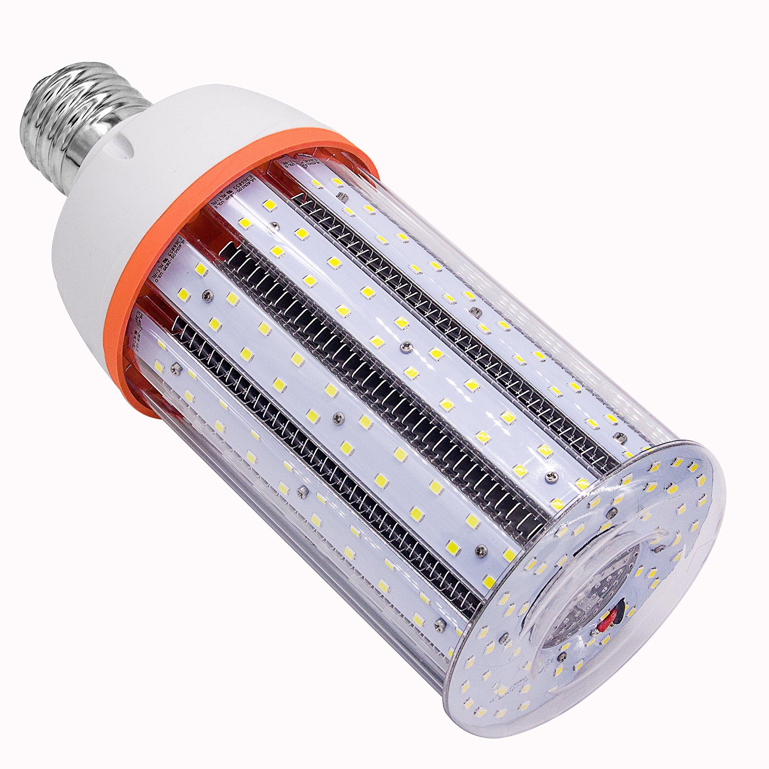 New Sunshine 60W LED Corn Light Bulb E39 Mogule Base 8600LM 5000K Cool White UL&DLC Certified for Low Bay Street Lamp Post Lighting Garage Factory Warehouse Parking Lot Shopping Mail Supermarket