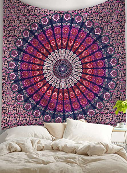 Amazon Com Popular Mandala Tapestry Hippie Wall Hanging Mandala