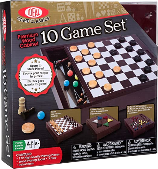 Fundex 5737 - Premium Wood, Set de Juegos de Madera 10 en 1: Amazon.es: Juguetes y juegos