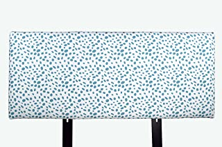 product image for MJL Furniture Designs Alice Padded Bedroom Headboard Contemporary Styled Bedroom Décor, Togo Series Headboard, Coastal Blue Finish, Queen Sized, USA Made
