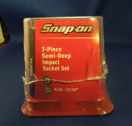 Snap-On 7-Piece Semi-Deep Impact Socket Set 307IMS 9/16
