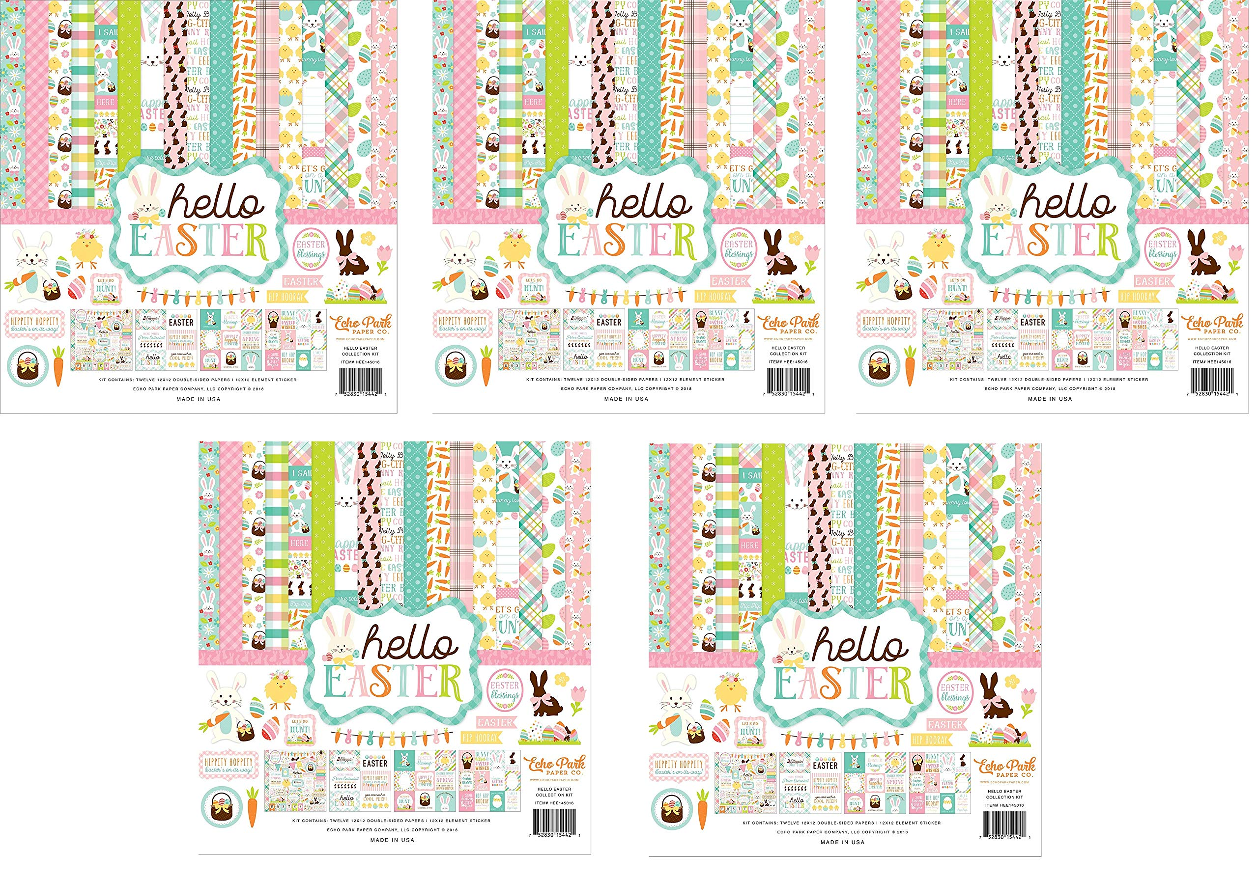 Echo Park Paper Company Hello Easter Collection Kit (Fivе Расk)