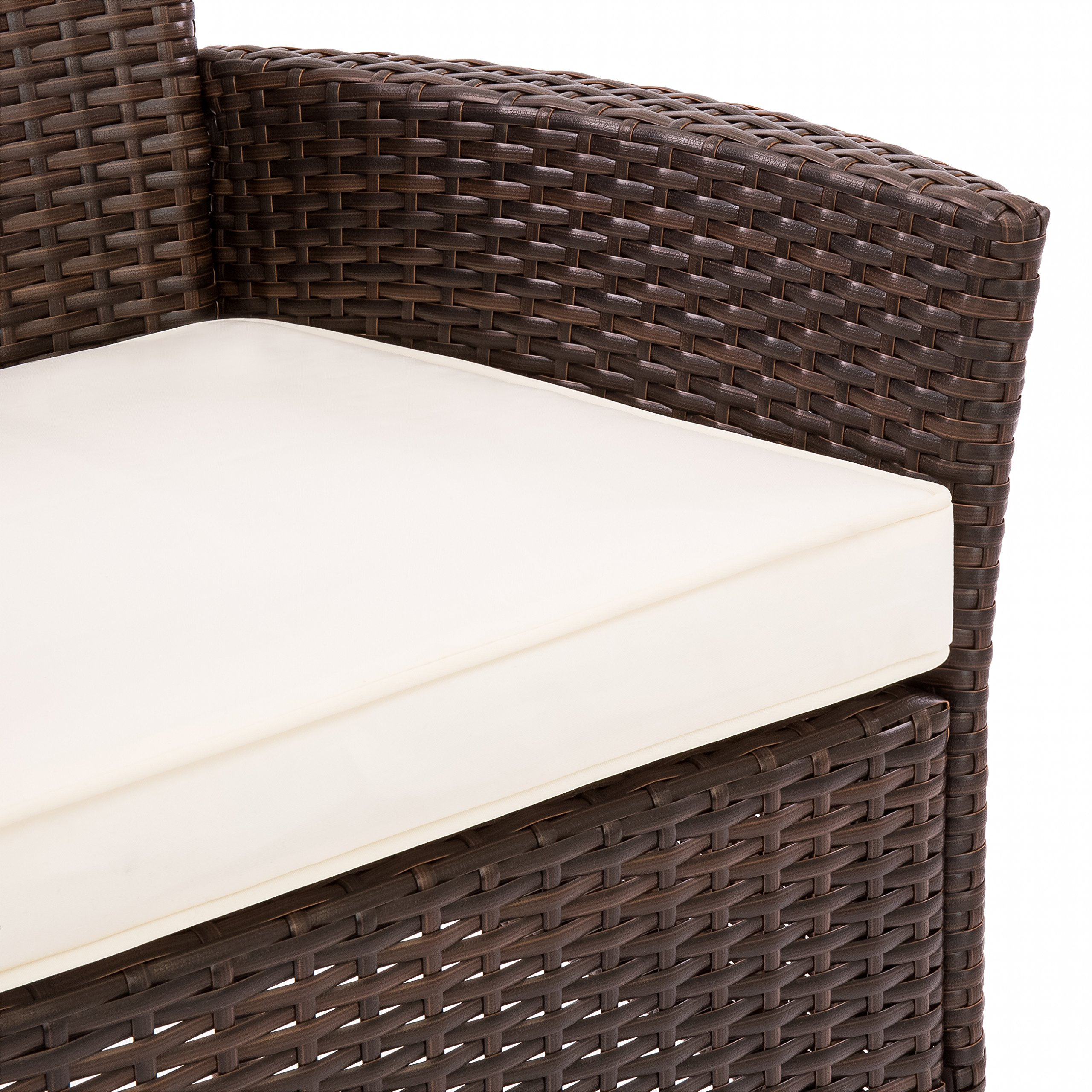 Best Choice Products Set of 2 Modern Contemporary Wicker Patio Dining Chairs w/Water Resistant Cushion - Brown by Best Choice Products (Image #3)